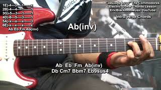 How To Play JESUS IS LOVE The Commodores Chords On Guitar @EricBlackmonGuitar