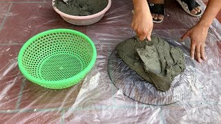 DIY - ❤️ CEMENT CRAFT IDEAS ❤️ - The perfect combination keeps fish pots and plant pots