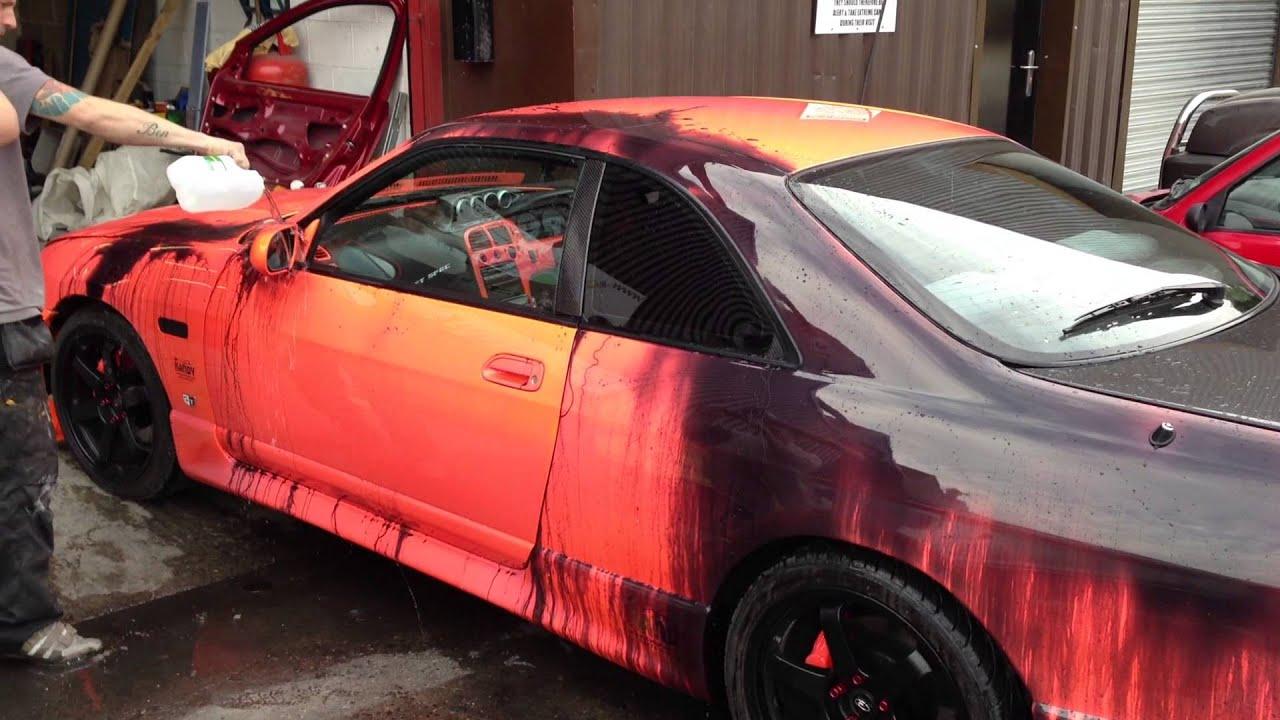 Autofarbe verändert sich mit der Temperatur