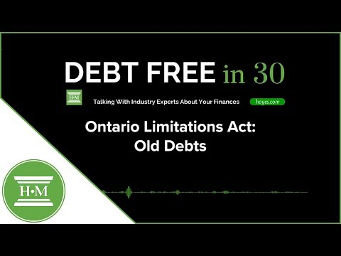 Ontario Limitations Act And Old Debts