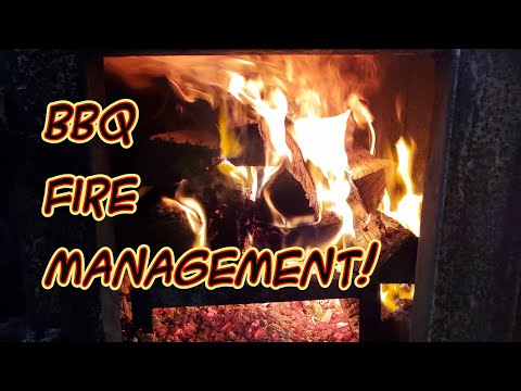 SDSBBQ - How Much Wood I Use Smoking Meat and Wood Burning Fire Management