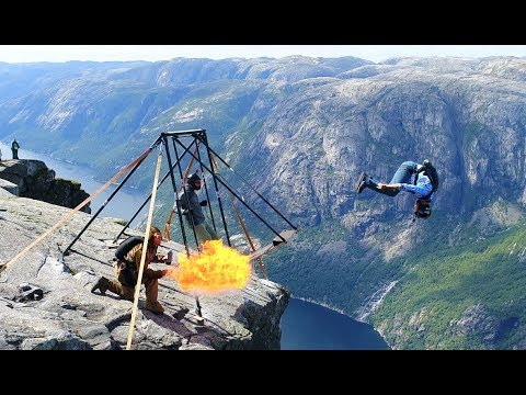 Amazing basejumpers at Kjerag (Spectacular Norway) - 100 million views on Facebook