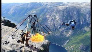 Amazing Basejumping at Kjerag!