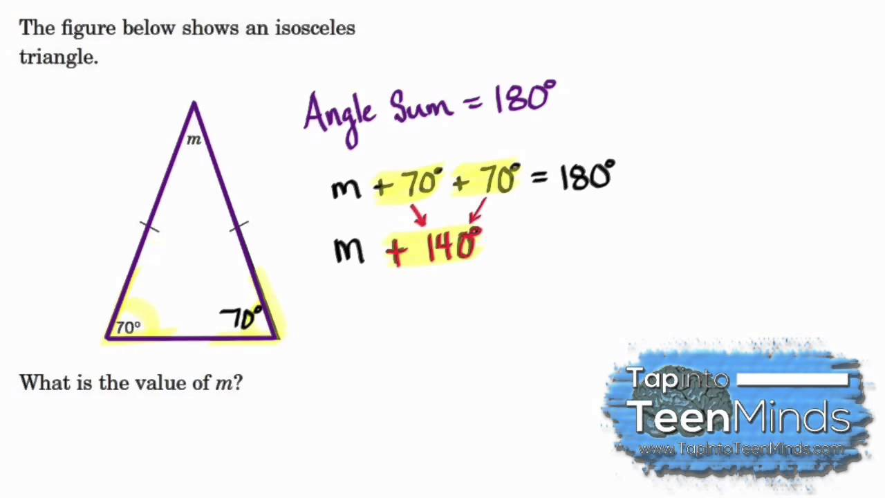 Interior Angles Of An Isosceles Triangle Problem Solving To Find A