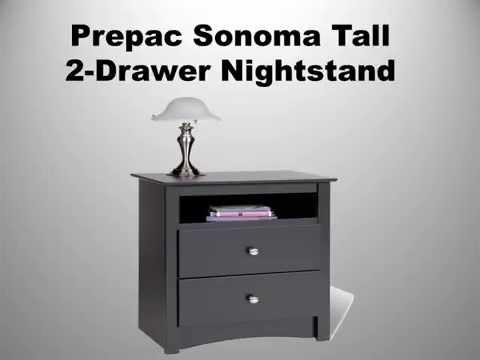 prepac-sonoma-tall-2-drawer-nightstand