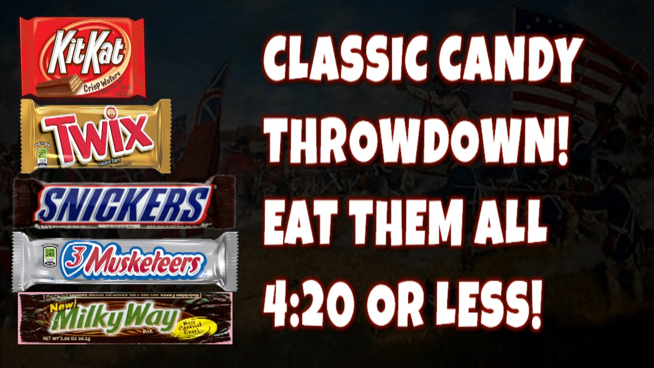 Classic Candy Bar Eating Challenge in 4:20 or Less | FreakEating