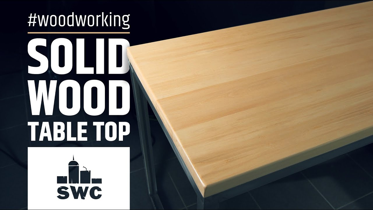 how to make a simple solid wood table top