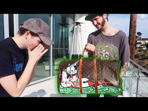 SURPRISED WITH A CUSTOM LOUIS VUITTON BAG ($10,000)