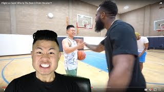Cash MADE FIVE 3 POINTERS IN A ROW! Basketball Shooting Challenge Against Flight!