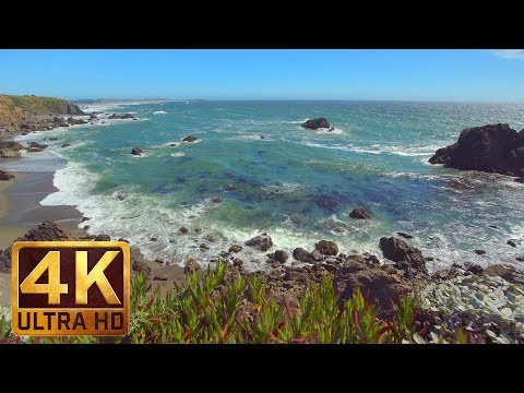 4K Ocean Waves - Californian Coast - Sonoma Сoast State Park, California Episode #4