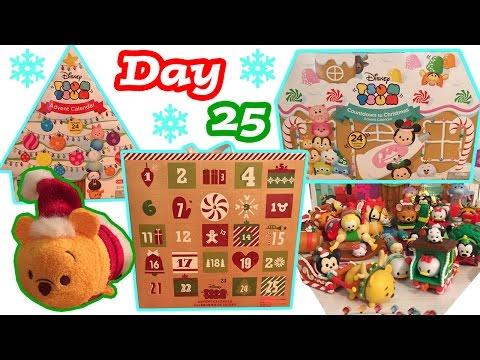 Tsum Tsum Advent Calendar Craze DAY 25 Christmas Holiday Tsum Tsum Plush + Figure Toy Surprises