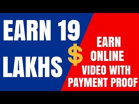 Earn 19 Lakhs Online - Live Payment Proof | Life Time Earning Job
