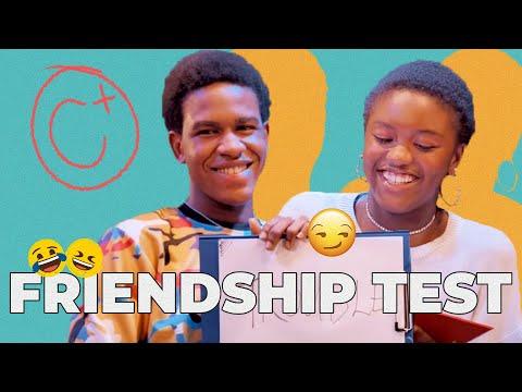 Jeiel Damina and Emmanuel Esiet take a Friendship Test