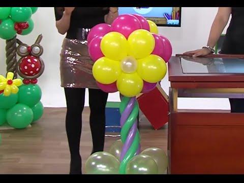 Globoflexia Como Hacer Una Columna De Flores Con Globos Hogar Tv