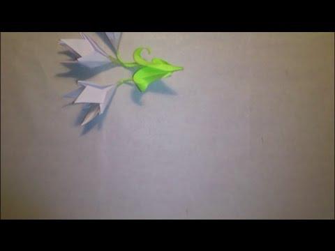 Оригами подснежники - Origami snowdrop