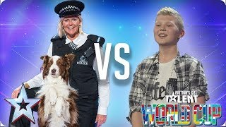 Jules & Matisse vs Kieran Gaffney | Britain's Got Talent World Cup 2018