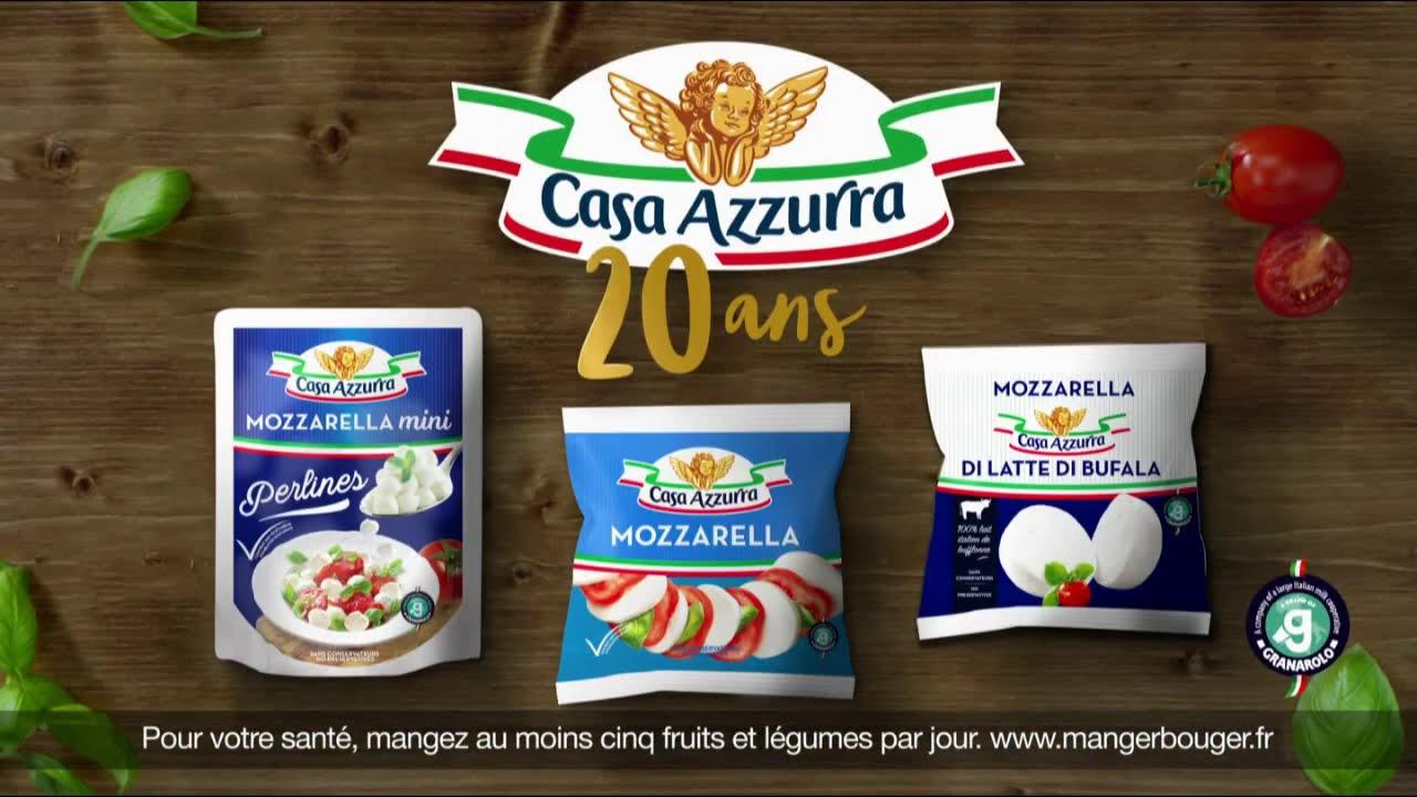 """Musique de la pub Mozzarella Casa Azzurra """"20 ans d'Italie gourmande"""" Pub 12s 2021"""