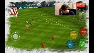 FIFA MOBILE WORLD CUP EP. 1!!! *NEW* UPDATE w GAMEPLAY!! GAME WINNER! USA TO THE WORLD CUP CHALLENGE