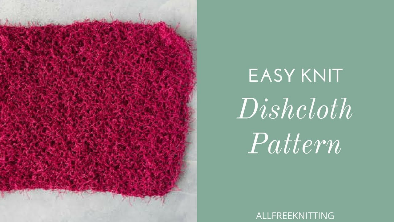 How to Knit an Easy Dish Cloth - YouTube