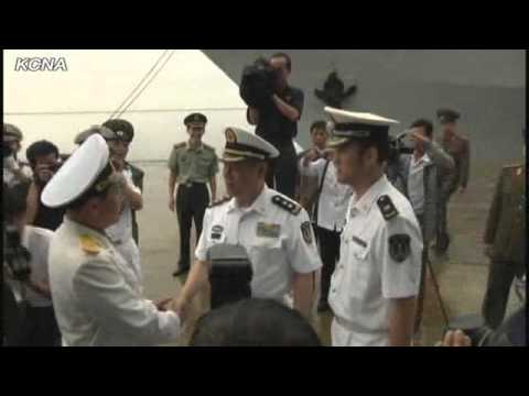 Chinese Flotilla Arrives at Wonsan Port of DPRK
