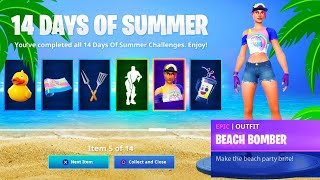 "VOICI THE SKINS FREE ""14 DAY OF SUMMER"" on Fortnite! (SEASON 9)"