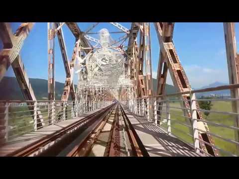 Bridge railway bike riding in Gimhea City Korea