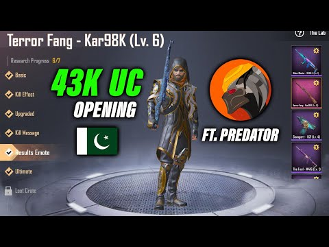 PUBG Pakistan | 43K UC Spent | Predator Reacting To RP 100 Rewards And Terror Fang Kar98 Upgraded |