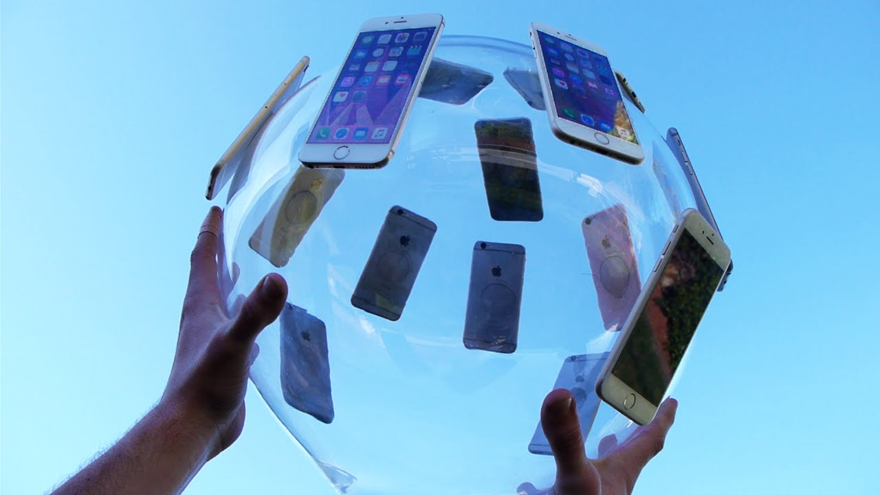 Dropping a GIANT iPhone 6S Glass Ball from 100 Feet!