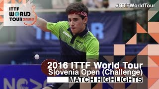 2016 Slovenia Open Highlights: Joao Geraldo vs Alexandre Robinot (U21-Final)(Review all the highlights from the Joao Geraldo vs Alexandre Robinot (U21-Final) from the 2016 Slovenia Open Subscribe here for more official Table Tennis ..., 2016-06-04T22:27:00.000Z)