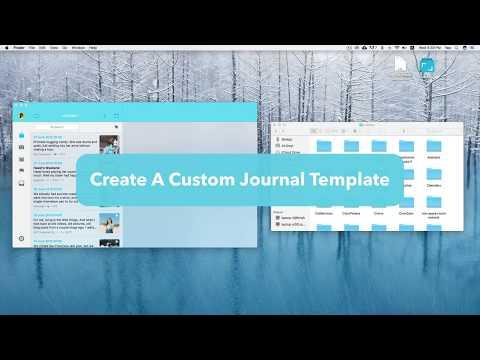 Journey App - Create Journal Template