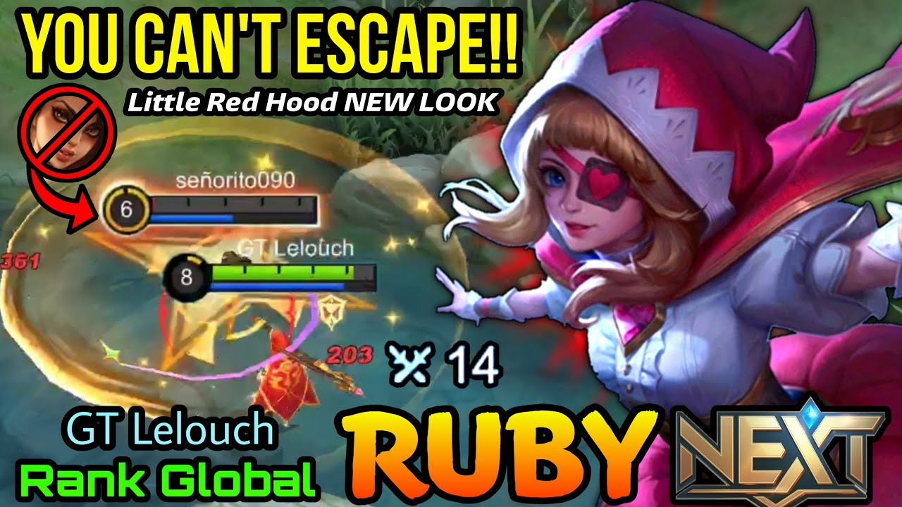 Ruby Little Red Hood New Look , MVP with 14 Kills!! - Top Global Ruby by GT Lelouch - MLBB