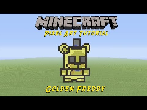 Minecraft Pixel Art Tutorial: Golden Freddy (Five Nights At Freddy's)