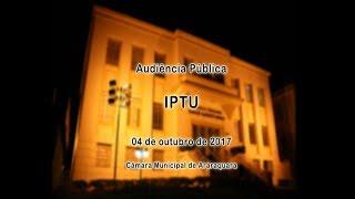 Audiência Pública - IPTU 04/10/2017