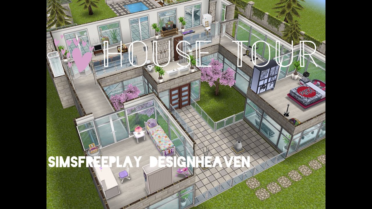 Nice Sims Freeplay House Tour // Window Mansion   YouTube
