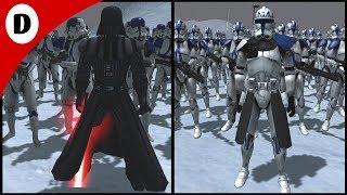 CAPTAIN REX'S 501st vs DARTH VADER'S 501st LEGION - Men of War: Star Wars Mod