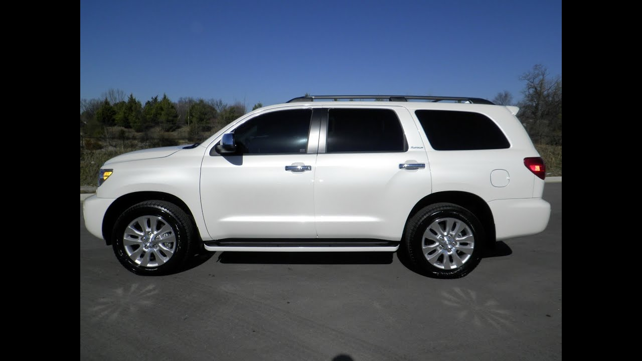 Sold 2013 Toyota Sequoia Platinum 4x4 7 860 Miles White