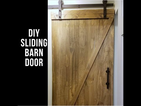 DIY Sliding Barn Door for Under $200!