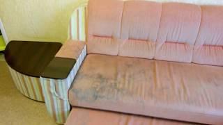 Чистка мягкой мебели, Днепропетровск  (диван от и до)(Пример комплексной чистки углового дивана, специалистом компании