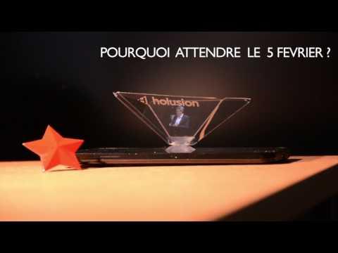 Jean-Luc Mélenchon en hologramme Smartphone