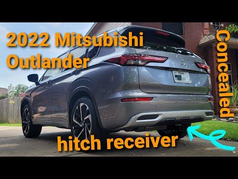 2022 Mitsubishi Outlander concealed hitch receiver DIY install.