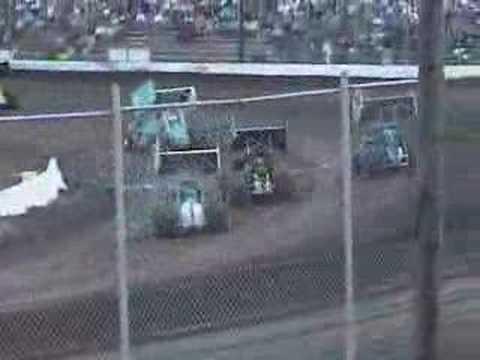 Madras Sprint Driver Crashes at Cottage Grove Speedway