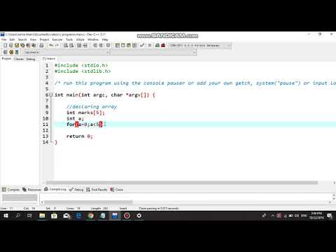 User Input With The Help Of Array - C Programming Tutorial thumbnail