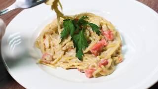 Полезные рецепты. Спагетти с рыбой в сливочном соусе. Здоровье, ЗОЖ, долголетие с Coral Club.