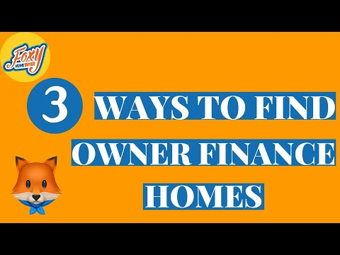 3 Ways to find Owner Finance Homes