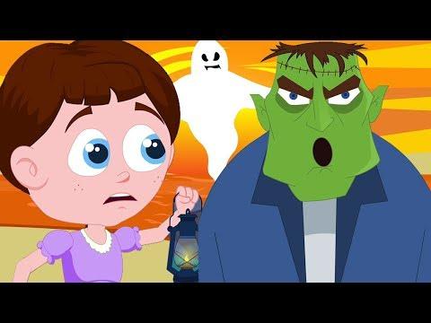 halo nya halloween lagu anak-anak halloween menyeramkan Kids Learn Scary Songs Hello Its Halloween