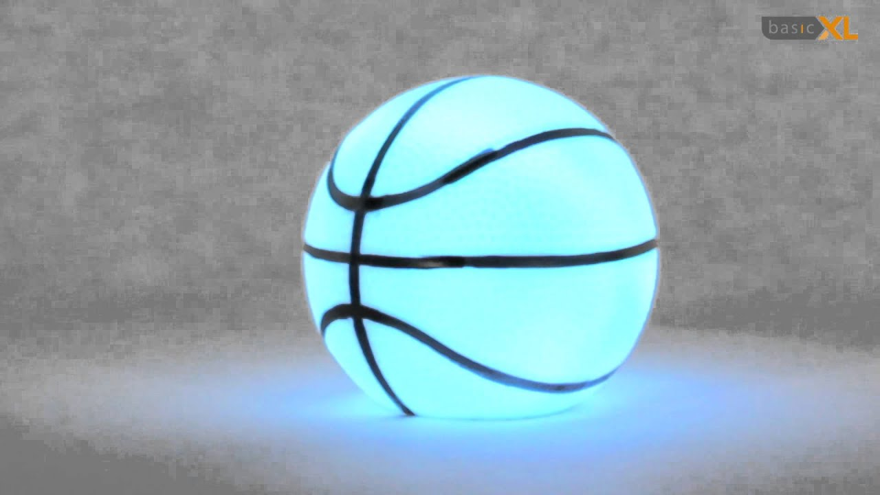 Pelota de baloncesto con luz LED multicolor - YouTube