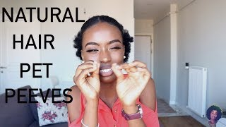 NATURAL HAIR PET PEEVES | DON'T TOUCH MY HAIR!!