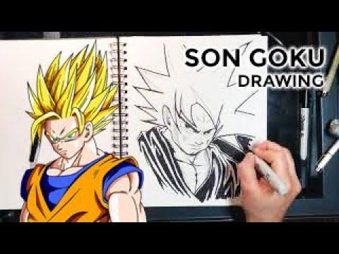 Son Goku Speed Drawing