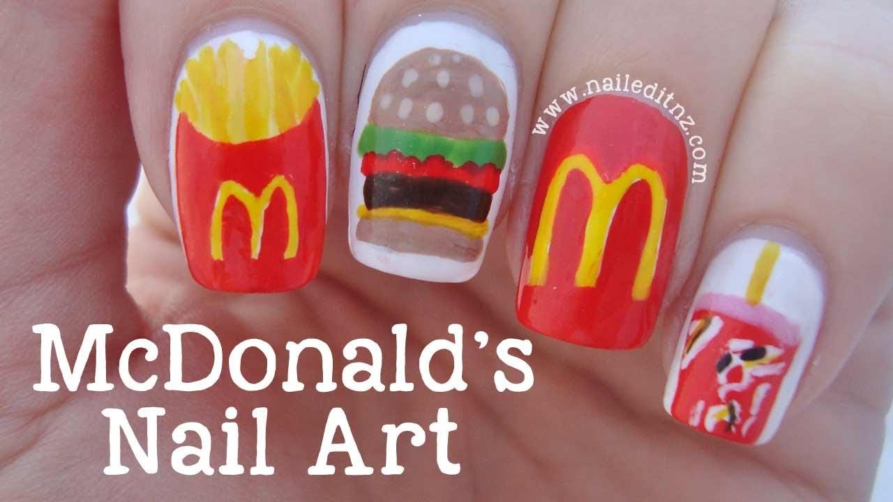 Mcdonalds Nail Art Tutorial Youtube