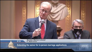 Senate Allows Ongoing Remote Marriage License Applications